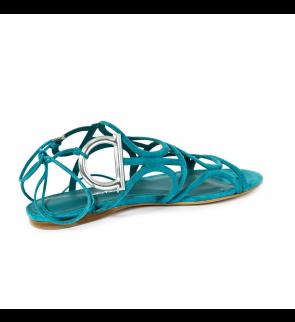 Viridian Argento Camoscio SALVATORE FERRAGAMO Sandals