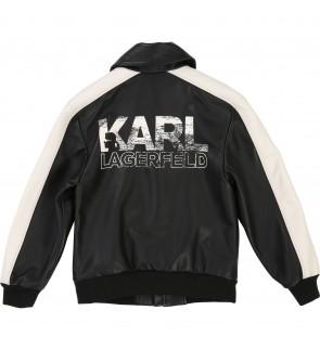 Black KARL LAGERFELD Leather jacket