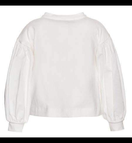 White MONNALISA T-shirt with long sleeves