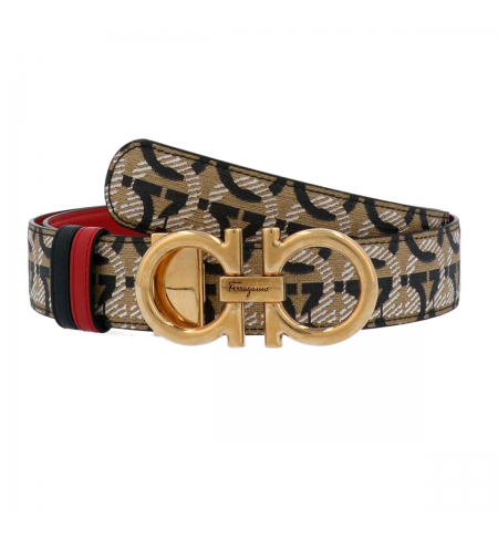 Beige Red SALVATORE FERRAGAMO Belt