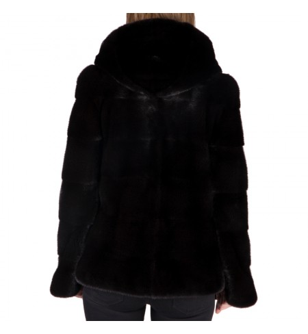 Black Nafa     BRASCHI Fur coat