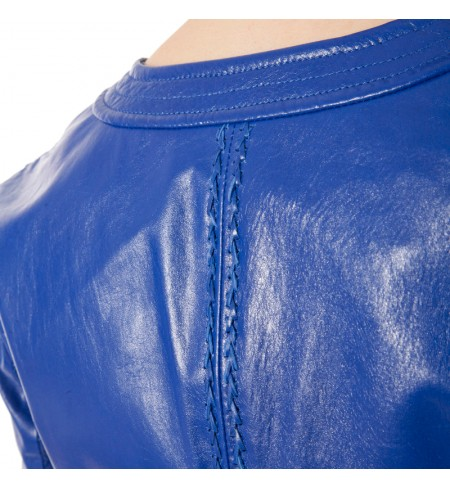 Leather jacket ANGELO MARANI Mirtillo
