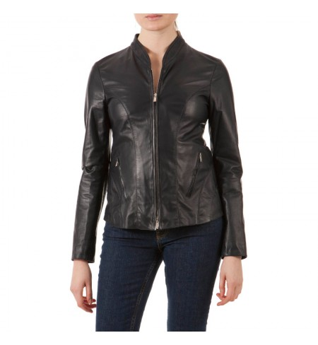 Leather jacket ARMANI COLLEZIONI