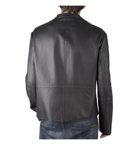 Nero ARMANI COLLEZIONI Leather jacket
