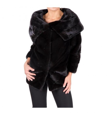 Black Nafa 38 BRASCHI Fur coat