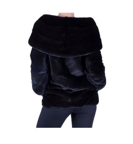 Black Nafa 38 BRASCHI Fur coat