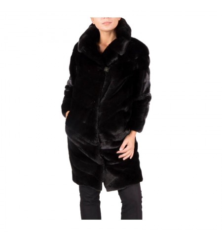Black Nafa 40 BRASCHI Fur coat
