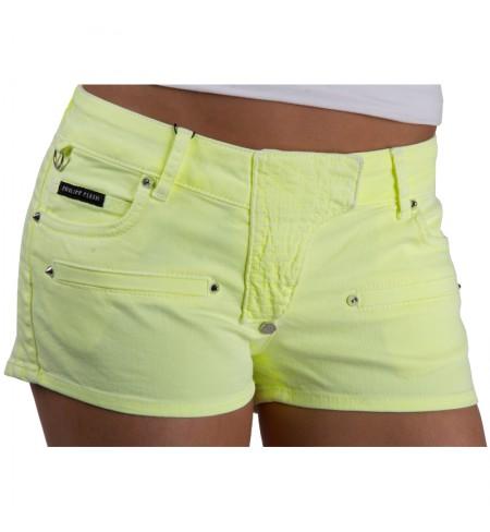 Neon Yellow PHILIPP PLEIN Shorts