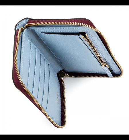 Anemone Dusk Blue Tribute VERSACE Wallet