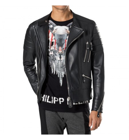 The Perfect Mix PHILIPP PLEIN Leather jacket