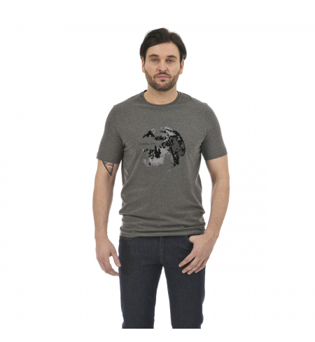 Gray Melange Dark CORNELIANI T-shirt