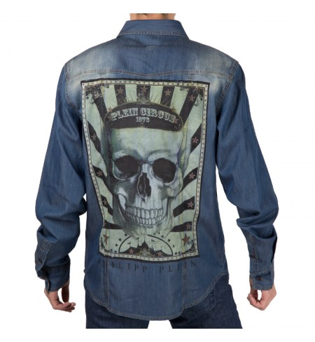 Playing Beluga Blue PHILIPP PLEIN Shirt