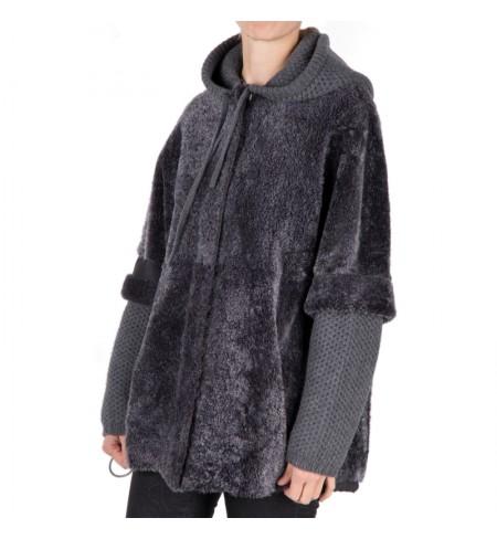 Grigio Scuro LORENA ANTONIAZZI Fur coat