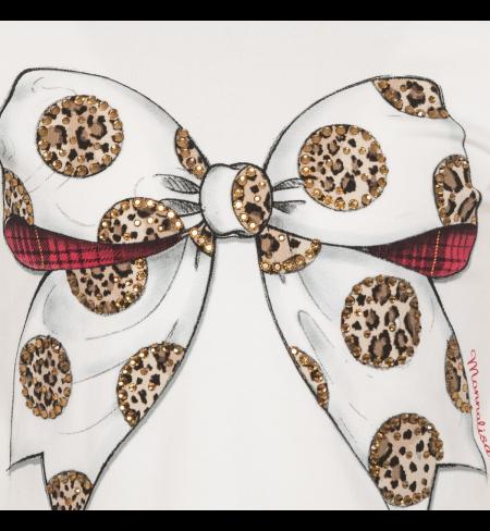 Panna Maculato MONNALISA T-shirt with long sleeves