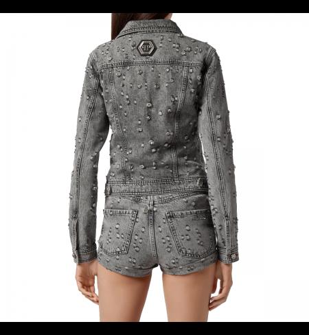 Grey PHILIPP PLEIN Denim jacket