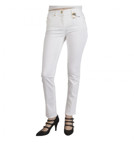White VERSACE Trousers
