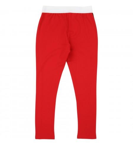 Contrast Side Panel Red KARL LAGERFELD Leggings