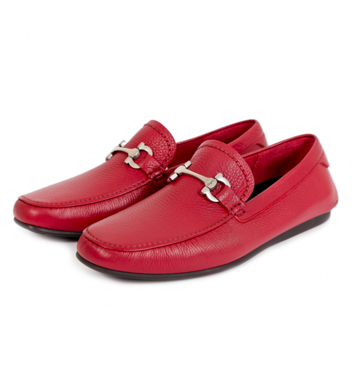 b813549725884 SALVATORE FERRAGAMO Mokasīni Red - Podium.lv