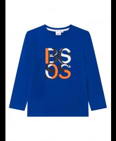 Blue HUGO BOSS T-shirt with long sleeves