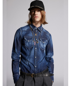 Navy Blue DSQUARED2 Shirt