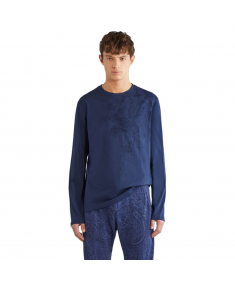 Blue ETRO T-shirt with long sleeves