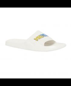 White KENZO Flip Flops