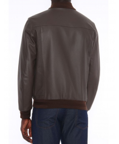 Brown CANALI Leather jacket