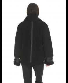 Black MOOSE KNUCKLES Sheepskin jacket