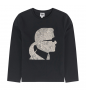 Black KARL LAGERFELD T-shirt with long sleeves