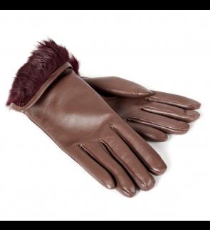 Перчатки SALVATORE FERRAGAMO Brown