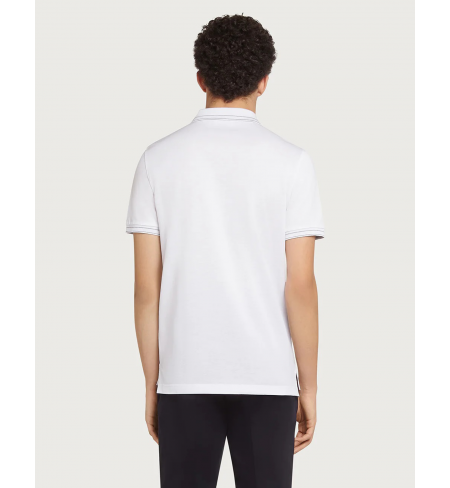 Рубашка поло SALVATORE FERRAGAMO White