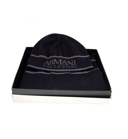 Шапка+ шарф ARMANI COLLEZIONI Blu/Grigio
