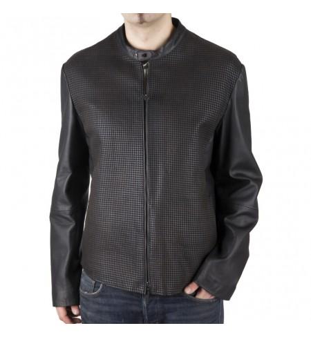 Кожаная куртка ARMANI COLLEZIONI Nero