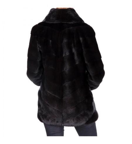 Шуба  меховая BRASCHI Black Nafa 44