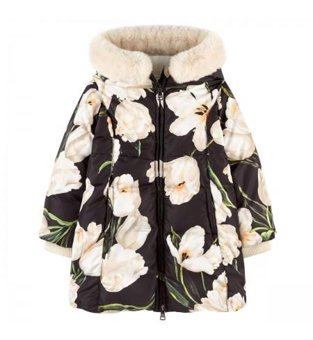 Пуховое пальто DOLCE&GABBANA Tulip