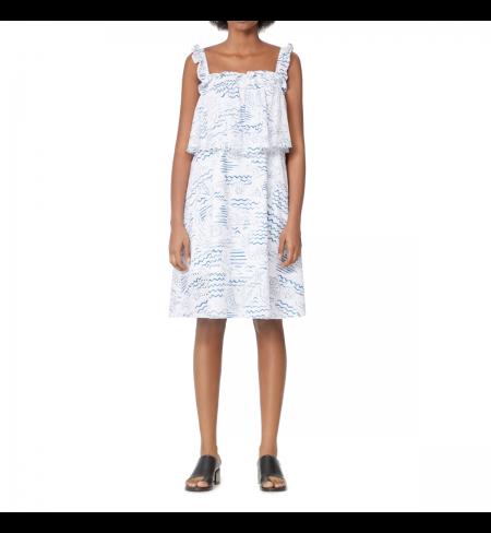 Платье KENZO Duck Blue