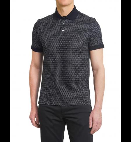 Рубашка поло SALVATORE FERRAGAMO Flannel Black