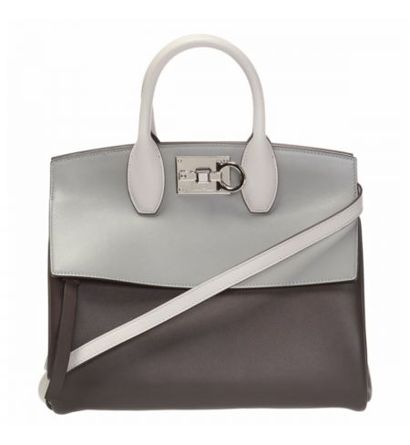 Сумка SALVATORE FERRAGAMO Flannel Silver Grey