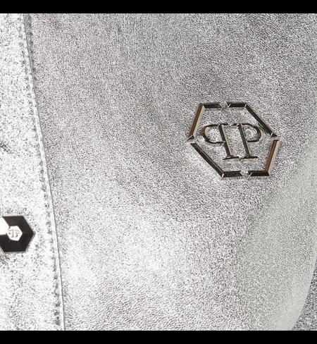 Кожаная куртка PHILIPP PLEIN Ivory