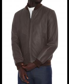 Кожаная куртка CANALI Brown