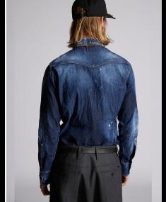 Рубашка DSQUARED2 Navy Blue