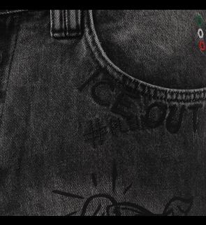 Šorti PHILIPP PLEIN No Flag Graffiti 08Nf
