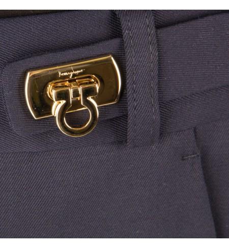 Bikses SALVATORE FERRAGAMO Blue Oxford Blu