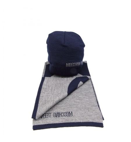 Cepure+šalle  Navy Blue