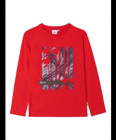 Krekls ar garām piedurknēm HUGO BOSS Red