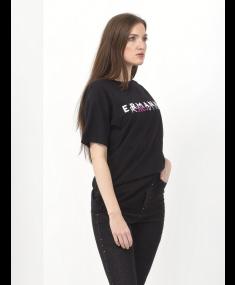 T-krekls E.ERMANNO SCERVINO Black